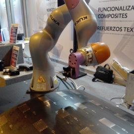 Eurecat aplica la robótica colaborativa para crear piezas de materiales compuestos con electrónica impresa para aeronáutica mediante impresión 3D